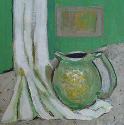 Green pitcher 8x8""
